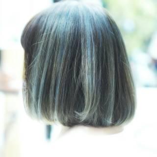 アッシュ ボブ ストリート 外国人風 ヘアスタイルや髪型の写真・画像