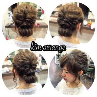 ショート まとめ髪 簡単ヘアアレンジ 成人式 ヘアスタイルや髪型の写真・画像