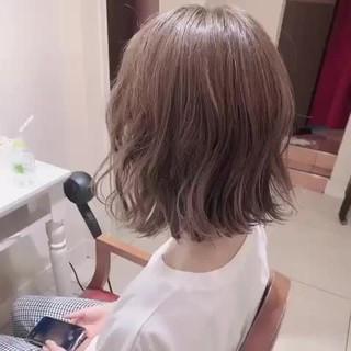 ミニボブ ナチュラル インナーカラー ウルフカット ヘアスタイルや髪型の写真・画像