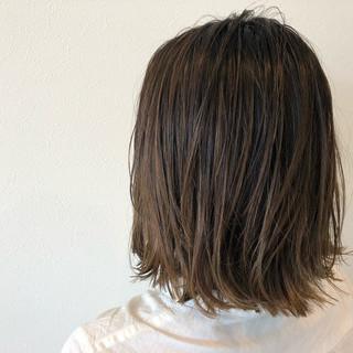 ヘアアレンジ 切りっぱなし ミディアム ボブ ヘアスタイルや髪型の写真・画像