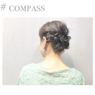 簡単 結婚式 ルーズ お団子 ヘアスタイルや髪型の写真・画像