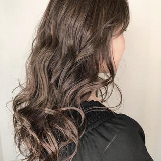 アッシュ 外国人風カラー ロング ハイライト ヘアスタイルや髪型の写真・画像