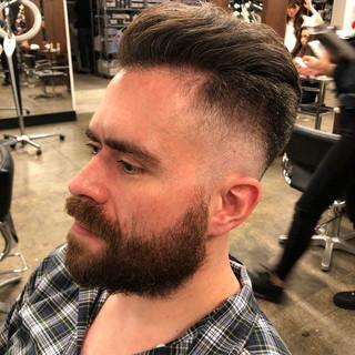 ショート 刈り上げ ストリート フェードカット ヘアスタイルや髪型の写真・画像