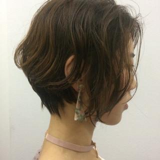 似合わせ ナチュラル 色気 ショート ヘアスタイルや髪型の写真・画像