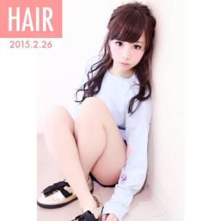 ハーフアップ ヘアアレンジ ショート 簡単ヘアアレンジ ヘアスタイルや髪型の写真・画像