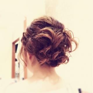 モテ髪 ゆるふわ ヘアアレンジ コンサバ ヘアスタイルや髪型の写真・画像