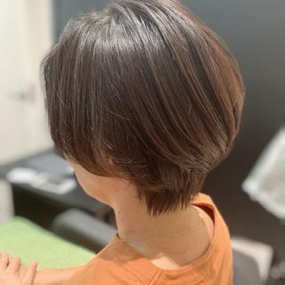 ハンサムショート モテ髪 ナチュラル 似合わせカット ヘアスタイルや髪型の写真・画像
