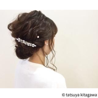 セミロング 結婚式 ショート 簡単ヘアアレンジ ヘアスタイルや髪型の写真・画像