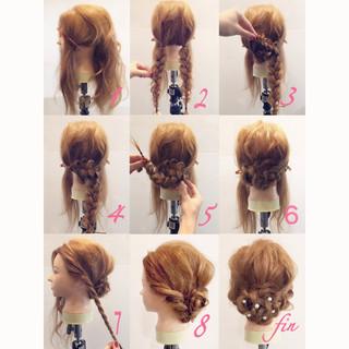 大人かわいい ヘアアレンジ ミディアム シニヨン ヘアスタイルや髪型の写真・画像