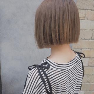 切りっぱなし リラックス 透明感 ナチュラル ヘアスタイルや髪型の写真・画像