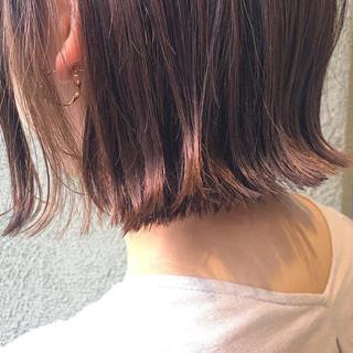 ナチュラル ショートヘア ボブ イルミナカラー ヘアスタイルや髪型の写真・画像