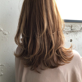 エレガント 鎖骨ミディアム レイヤーカット セミロング ヘアスタイルや髪型の写真・画像