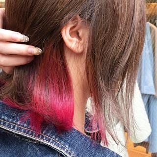 外国人風カラー ボブ デート 女子力 ヘアスタイルや髪型の写真・画像