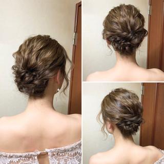 ヘアアレンジ 結婚式 エレガント アップスタイル ヘアスタイルや髪型の写真・画像