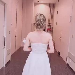 ヘアアレンジ 結婚式ヘアアレンジ セミロング ブライダル ヘアスタイルや髪型の写真・画像