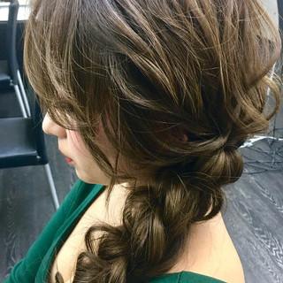 エレガント 編みおろし 卒業式 ヘアアレンジ ヘアスタイルや髪型の写真・画像