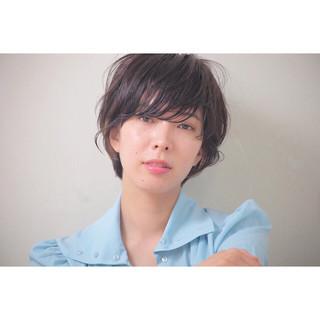 デート 女子会 アンニュイ ショート ヘアスタイルや髪型の写真・画像