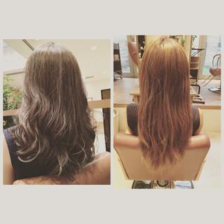 外国人風カラー アッシュグレージュ ストリート ロング ヘアスタイルや髪型の写真・画像