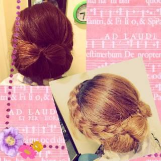 編み込み ヘアアレンジ アップスタイル コンサバ ヘアスタイルや髪型の写真・画像