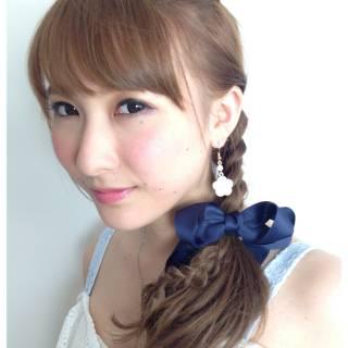 ショート フェミニン ヘアアレンジ ロング ヘアスタイルや髪型の写真・画像