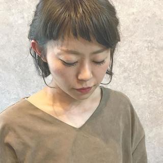 ナチュラル アンニュイ 簡単ヘアアレンジ ショート ヘアスタイルや髪型の写真・画像