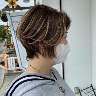 艶カラー かっこいい コンサバ 艶髪 ヘアスタイルや髪型の写真・画像