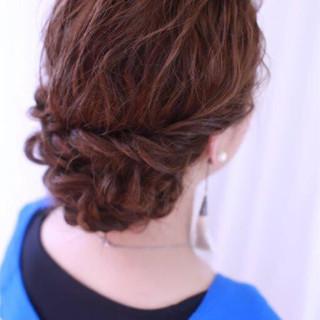 ゆるふわ 大人かわいい セミロング 簡単ヘアアレンジ ヘアスタイルや髪型の写真・画像