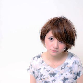 ショートボブ ナチュラル ショートヘア ショート ヘアスタイルや髪型の写真・画像