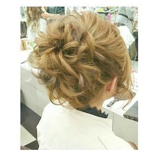 ゆるふわ シニヨン ナチュラル ロング ヘアスタイルや髪型の写真・画像