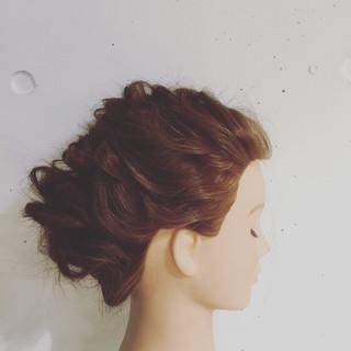 大人かわいい ゆるふわ セミロング 簡単ヘアアレンジ ヘアスタイルや髪型の写真・画像