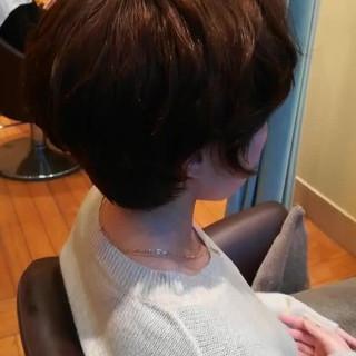 アンニュイほつれヘア パーマ ショート フェミニン ヘアスタイルや髪型の写真・画像