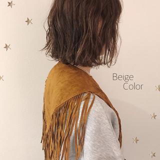 ベージュ ボブ アッシュベージュ ショートボブ ヘアスタイルや髪型の写真・画像