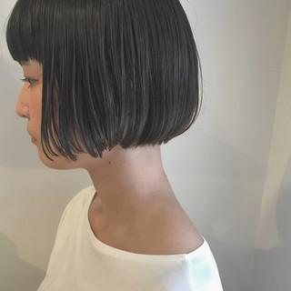 ナチュラル 透明感 ショート ショートボブ ヘアスタイルや髪型の写真・画像