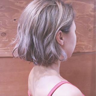 ストリート グラデーションカラー インナーカラー バレイヤージュ ヘアスタイルや髪型の写真・画像