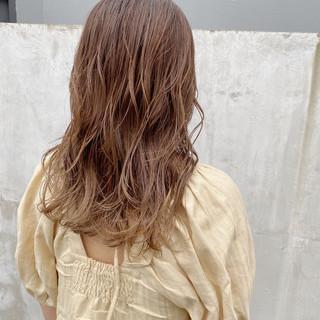 セミロング ストリート 極細ハイライト ハイライト ヘアスタイルや髪型の写真・画像