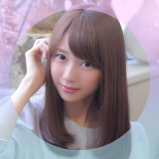 ゆるふわ ピンクブラウン セミロング ナチュラル ヘアスタイルや髪型の写真・画像