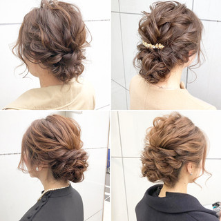簡単ヘアアレンジ アンニュイほつれヘア 結婚式 フェミニン ヘアスタイルや髪型の写真・画像