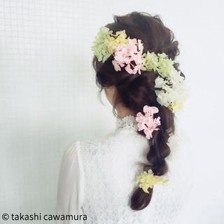 結婚式 ヘアアレンジ 大人女子 ブライダル ヘアスタイルや髪型の写真・画像