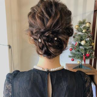 アンニュイほつれヘア 結婚式 デート ナチュラル ヘアスタイルや髪型の写真・画像