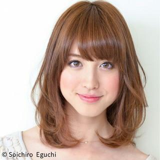 フェミニン 前髪あり 大人かわいい ナチュラル ヘアスタイルや髪型の写真・画像