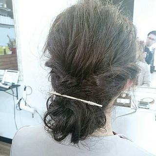 編み込み 大人かわいい ロング 簡単ヘアアレンジ ヘアスタイルや髪型の写真・画像