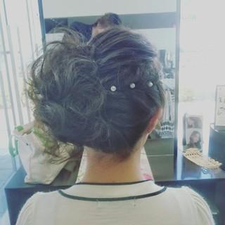 パーティ 結婚式 ヘアアレンジ フェミニン ヘアスタイルや髪型の写真・画像