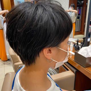 ショート ミニボブ 大人女子 ベリーショート ヘアスタイルや髪型の写真・画像