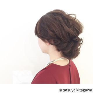 外国人風 上品 結婚式 フリンジバング ヘアスタイルや髪型の写真・画像