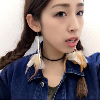外国人風 ショート ヘアアレンジ セミロング ヘアスタイルや髪型の写真・画像