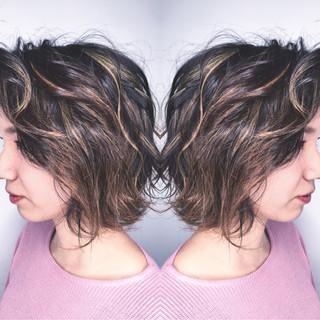 ナチュラル パーマ グラデーションカラー 外国人風 ヘアスタイルや髪型の写真・画像