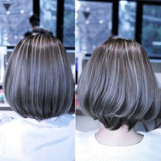 グラデーションカラー 大人女子 こなれ感 ボブ ヘアスタイルや髪型の写真・画像