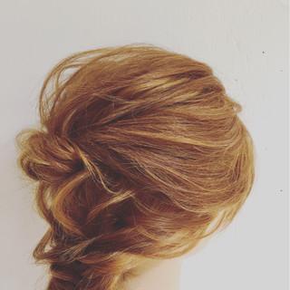 ヘアアレンジ フェミニン 大人かわいい ミディアム ヘアスタイルや髪型の写真・画像