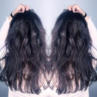 上品 黒髪 ニュアンス ロング ヘアスタイルや髪型の写真・画像