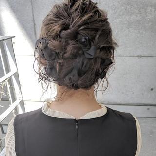 簡単ヘアアレンジ ガーリー 結婚式 ヘアアレンジ ヘアスタイルや髪型の写真・画像
